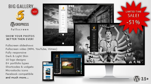 BIG Gallery WP - Fullscreen Photography/Portfolio - Photography Creative