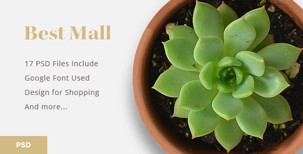 Bestmall Interior Design Ecommerce - PSD Template - Shopping Retail
