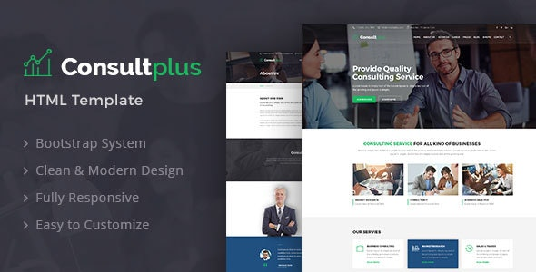 Consultplus : Business Consulting HTML Template - Business Corporate