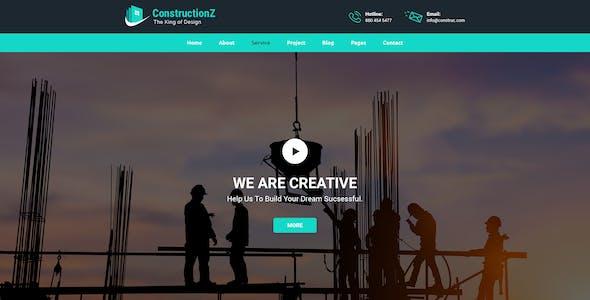 ConstructionZ - Construction PSD Template
