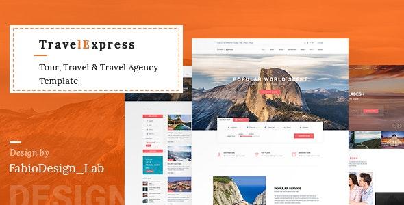 TravelExpress - Tour & Travel Agency PSD Template - Travel Retail