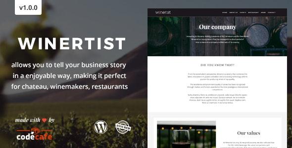 Winerist - A Stunning Winery WordPress Theme - Restaurants & Cafes Entertainment
