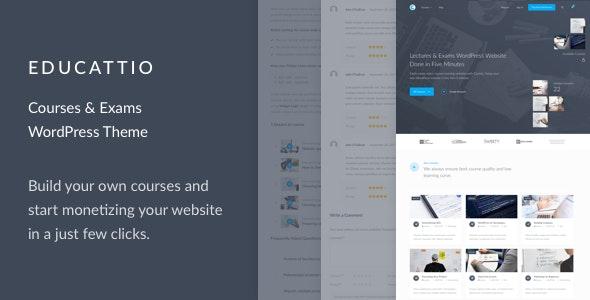 Educattio - Courses & Exams WordPress Theme - Education WordPress