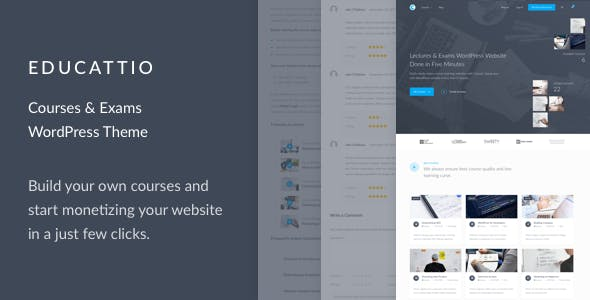 Educattio - Courses & Exams WordPress Theme