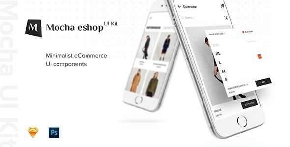 eShop Mobile UI Kit - Retail Sketch