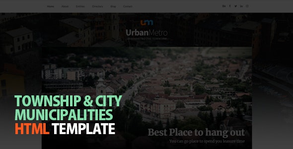 UrbanMetro - Township, City and Municipalities HTML Template - Government Corporate