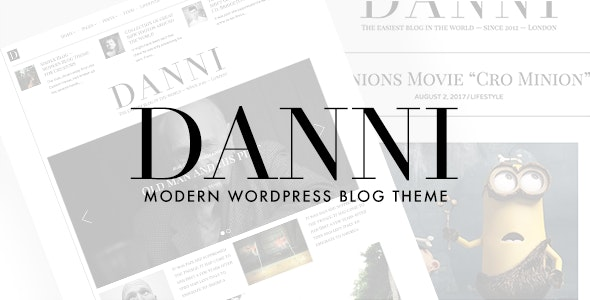 Danni — Minimalist WordPress Blog Theme by withemes