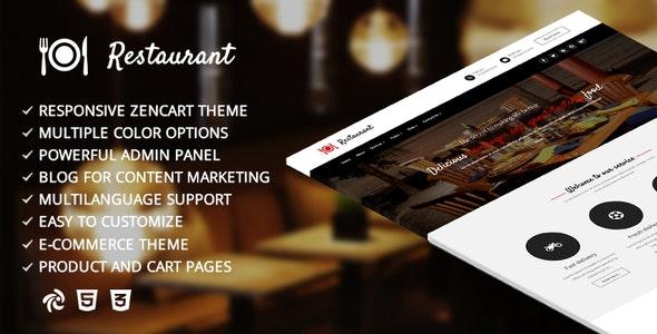 Restaurant – Responsive Zencart Template - Health & Beauty Zen Cart