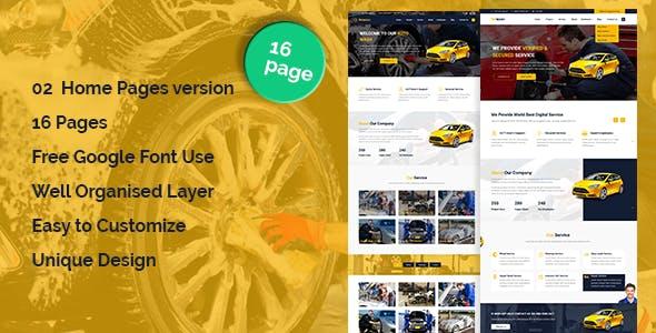 AutoWash - Car Wash & Car Repair HTML5 Responsive Template