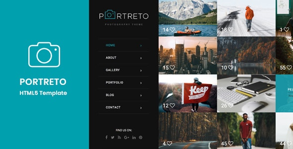 Portreto - Photography & Portfolio HTML5 Template - Photography Creative
