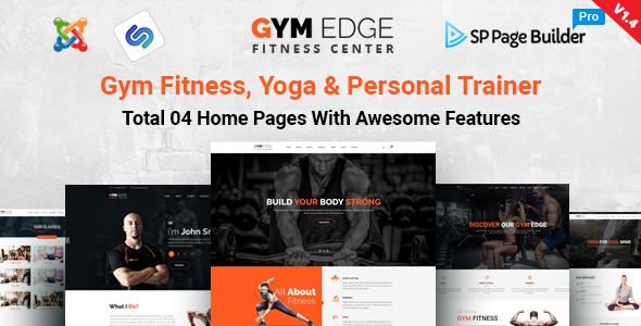 GymEdge - Gym Fitness & Yoga Joomla Template - Health & Beauty Retail