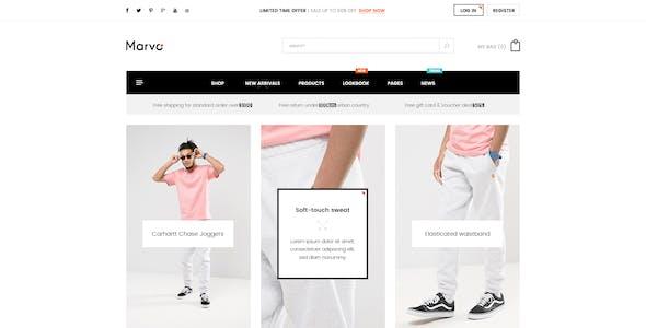 Marvo Stylish - Fashion Shop PSD Templates