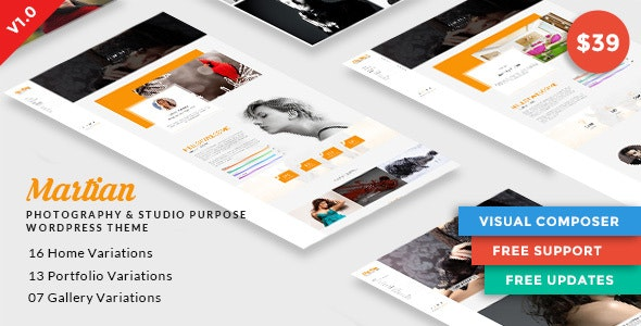 Martian | Photography & Studio Purpose WordPress Theme - Creative WordPress