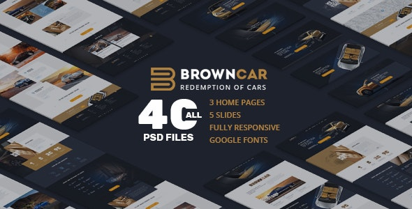 BrownCar | Redemption of Cars | Selection of Cars | Beige interior | PSD template - Photoshop UI Templates