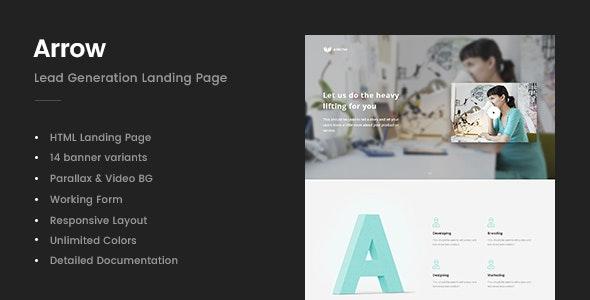 Arrow - Lead Generation Landing Page - Business Corporate