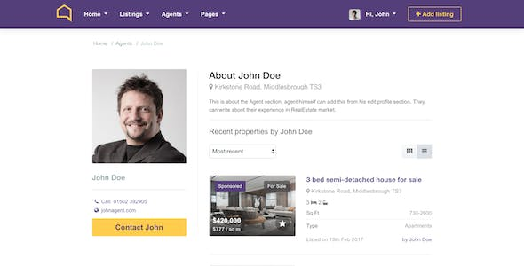 Listo Real Estate Bootstrap 4.0 HTML Template