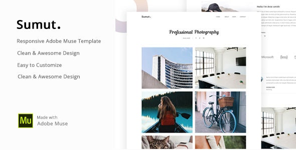Sumut - Creative Portfolio Muse Template - Creative Muse Templates