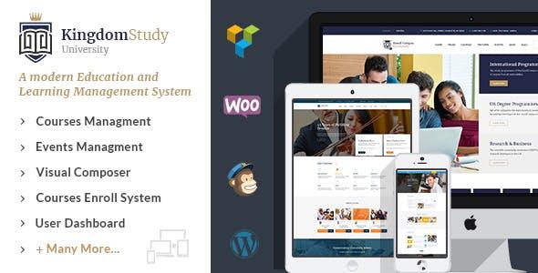 Kingdom Study - WP Learning Management System WordPress Theme