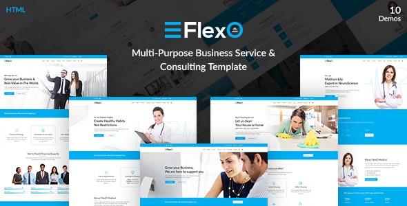 FlexO - Multi-Purpose Business Service & Consulting Template - Business Corporate