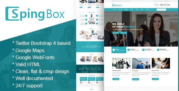 Spingbox - Professional Business HTML Template - Business Corporate