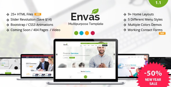 Envas - Multipurpose HTML5 Template - Business Corporate