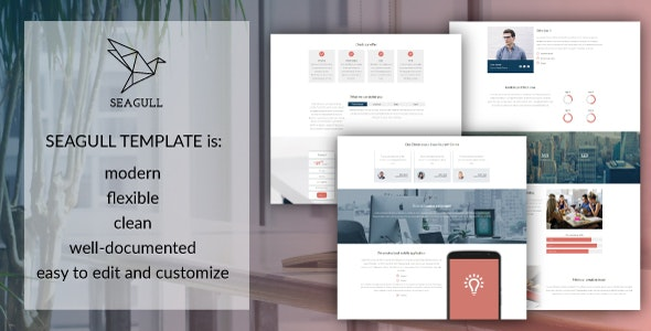 Seagull Clean And Easy To Customize Html5 Template By
