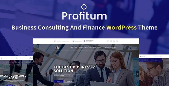 Profitum - Business & Finance WordPress Theme - Business Corporate