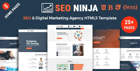 SEONinja - SEO & Digital Marketing Agency HTML Template - Marketing Corporate