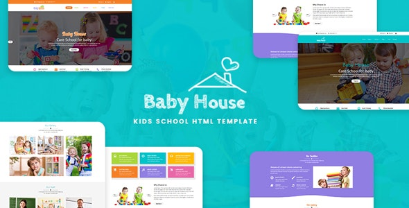 Baby House - Kids School, Kinder Garden and Play School Multipurpose HTML5 Template - Business Corporate