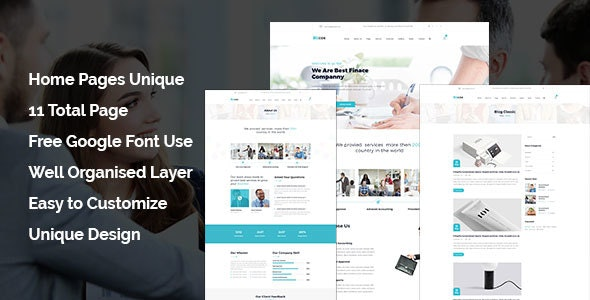 Bizcox - Business Consulting HTML5 Responsive Template - Corporate Site Templates
