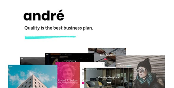 André - A Contemporary WordPress Theme for Small Business Owners and Creatives