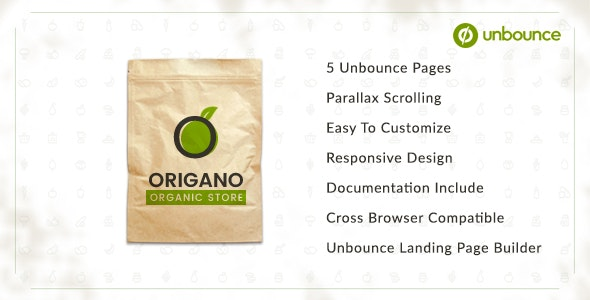 Origano - Organic Store Unbounce Template - Unbounce Landing Pages Marketing