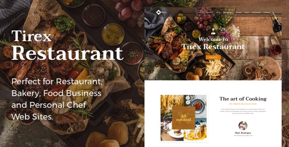 Tirex Restaurant - Theme for Restaurants and Cafes - Restaurants & Cafes Entertainment