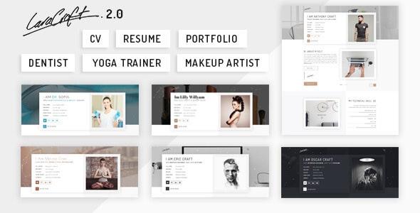 Caracraft - CV/ Resume/ Portfolio - Creative Site Templates