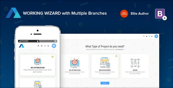 Step Form Wizard Website Templates from ThemeForest