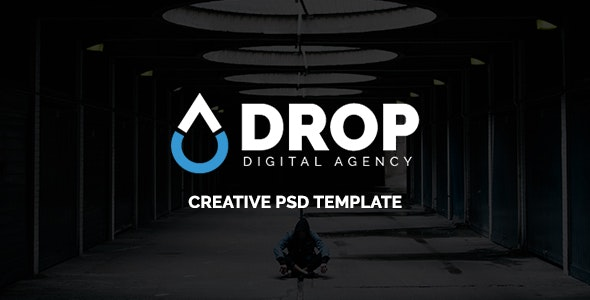 Drop - Digital Agency PSD Template - Creative Photoshop