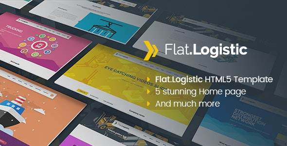 Flat Logistic - SEO, Social Media & Multipurpose HTML5 Template - Corporate Site Templates