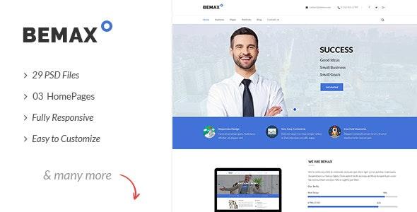 Bemax - Multipurpose Corporate Business PSD Template - Business Corporate