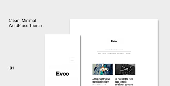 Evoo - WordPress Theme for Bloggers - Personal Blog / Magazine