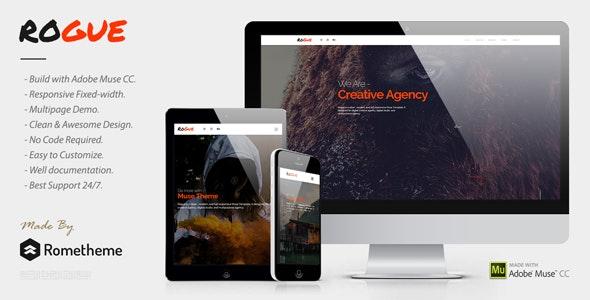 ROGUE - Creative Multi-purpose MUSE Template - Creative Muse Templates