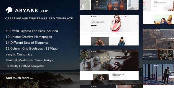 Arvakr - Creative Multi-Purpose PSD Template - Creative Photoshop