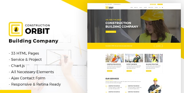 Construction Orbit - Business Services Template for Architecture & Construction Building Company - Business Corporate