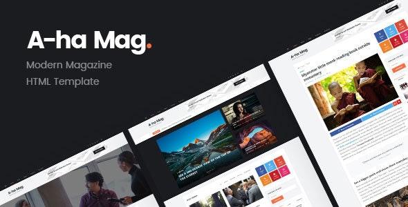 AhaMag | Modern Magazine HTML Template - Entertainment Site Templates