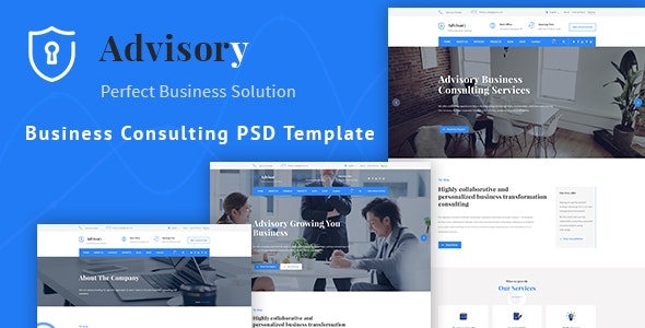 Advisory - Business, Consulting, Corporate PSD Template - Business Corporate
