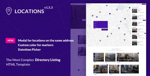 Directory Listing Template - Locations - Corporate Site Templates