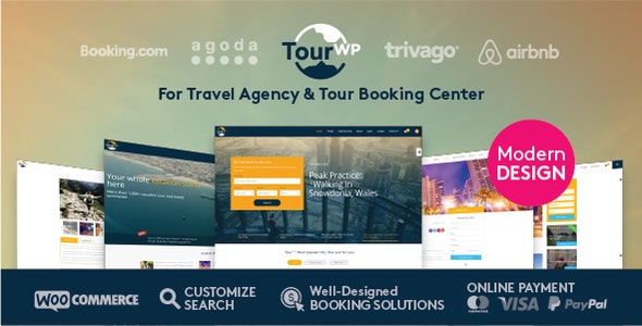 Tour Travel Booking WordPress Theme - Travel Retail