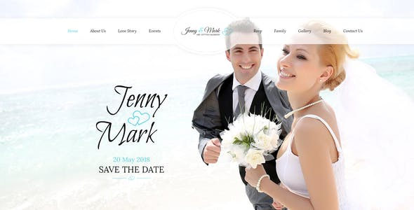 Wedding Invitation - Couple Event & Celebration Muse Template