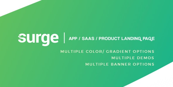 Surge - App / SAAS /  Software / Product Template - Technology Site Templates