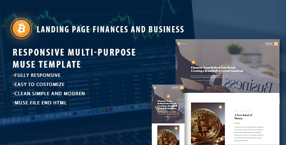 Bitinvest- Bitcoin & Digital currency - Landing Muse Templates