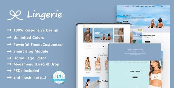 Lingerie Store - Beach Clothing Responsive PrestaShop 1.7 Theme